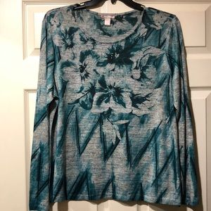 White Stag printed long sleeve top